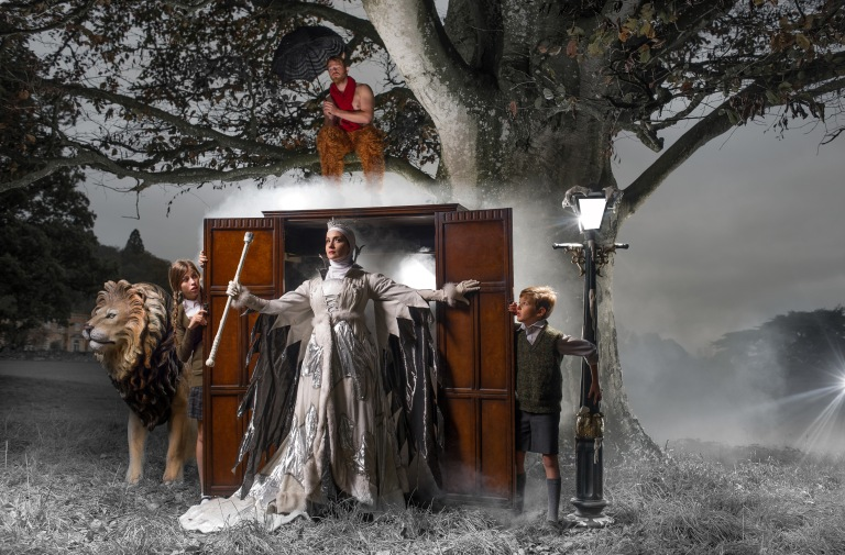 Pictures by Steven Haywood/Sghaywood Photography - The National Trust South West's annual Christmas Shoot at Killerton house - 'The Lion The Witch & The Wardrobe'